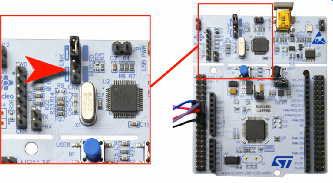 Connecting the STM32 Nucleo board to your smartphone